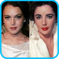 Lindsay Lohan - Elizabeth Taylor